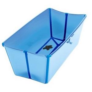sammenklappeligt badekar Super praktisk The Flexi Bath baby badekar i blå sammenklappeligt badekar