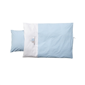 Image of   Baby Dan, Love Birds baby sengesæt, blå