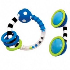 Ring & Phone Rattle blå, Sassy