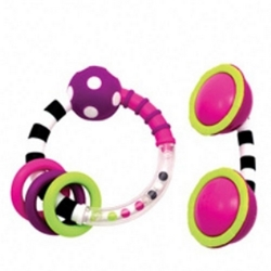 Ring & Phone Rattle pink, Sassy