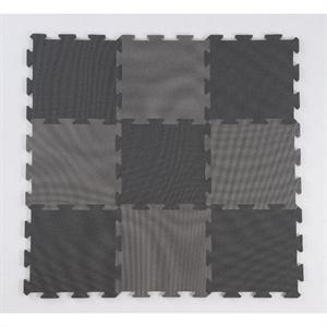 Basson skumpuslebrikker, 9 stk., 30 x 30 cm., sort/grå