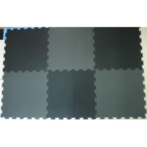 Basson skumpuslebrikker, 6 stk., 60 x 60 cm., sort/grå
