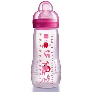 MAM Baby Bottle sutteflaske, 330 ml., BPA fri, pige