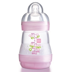 MAM First Bottle 160 ml. sutteflaske, BPA fri, 80% mindre kolik! Pige