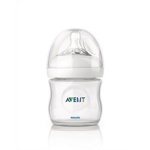 Avent sutteflaske PP 125 ml., BPA fri, Natural
