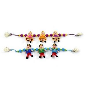 Billede af Smallstuff barnevognskæde, hæklet, klovn eller ballerina