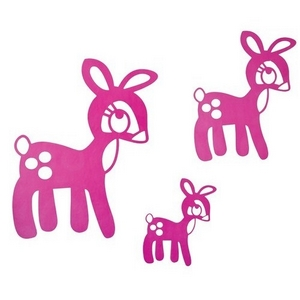 Image of   Pink bambi wallstickers, Sebra
