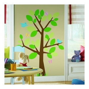 Wallsticker, Room2play, mega, prikket træ