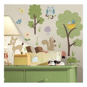 Wallstickers, Room2play, skovens dyr