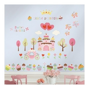 Image of Wallstickers, Happy Cupcake Land (89965-66322-6)