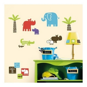 Image of Wallstickers, Safari Blocks (89965-66322-65)