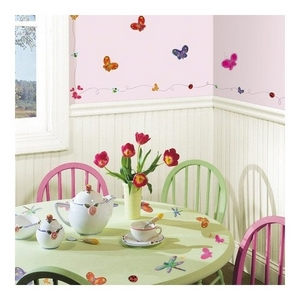 Image of Wallstickers, sommerfugle (89965-66322-6567)