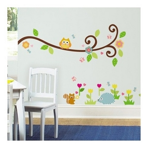 Image of Wallstickers, Happy Scroll Branch (89965-66322-656)