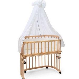 Himmel - glat hvid til Babybay seng