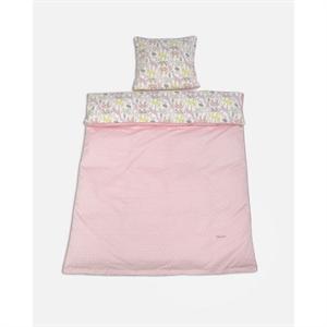 Image of   Baby sengetøj med dyr, rosa, Smallstuff