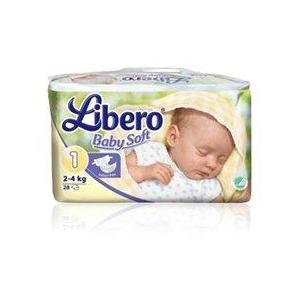 Libero Baby Soft bleer, 2-4 kg, 28 stk.