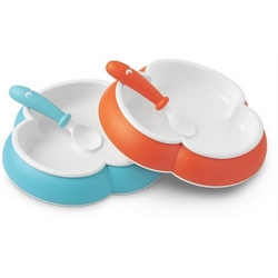 Babybj�rn tallerkens�t, turkis/orange