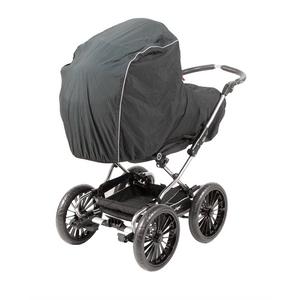 Dania luksus regnslag til barnevogn med myggenet, sort