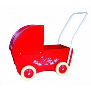 Billede af Dukkevogn i træ fra KREA (Rød)