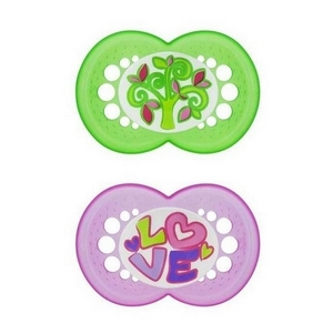 MAM original Silk Teat silikone sut 6 mdr.+, BPA fri, 2 stk., pige