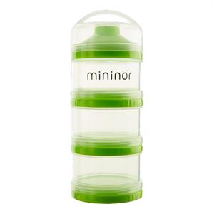 Pulvercontainer, 3 delt med låg, Mininor