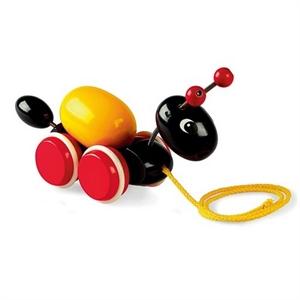 Brio, myre med æg, pull-along