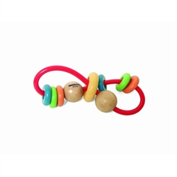 Skwinkle Teether and Rattle Activity Clutching Toy, Manhattan Toy