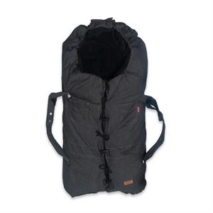 Trilleposen med ulddyne og bæreplade, denim sort