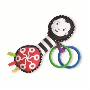 Image of   Grasp and Grow Activity Rattle and Teether, Manhattan Toy
